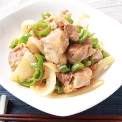 鶏肉と玉ねぎのマヨポン炒め