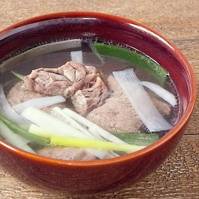 牛すね肉のあっさり塩スープ