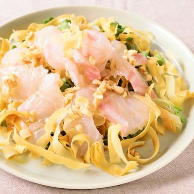 鯛の中華風カルパッチョ