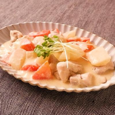 根菜と鶏肉の和風クリーム煮込み