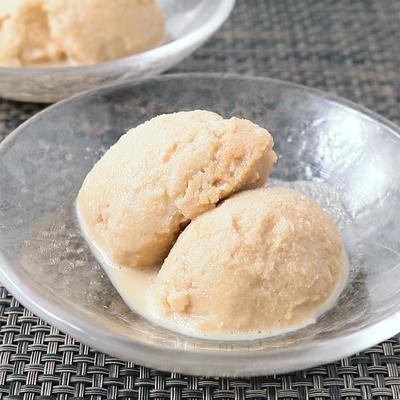 黒糖ときなこの豆乳アイス