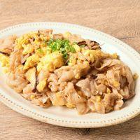 ふんわり卵と豚バラ肉の炒め物