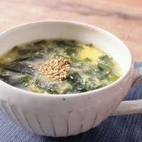 生わかめの中華スープ