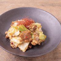 牛肉とキャベツのピリ辛マヨ炒め