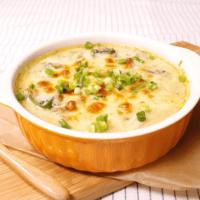 ひき肉とほうれん草の味噌クリームグラタン