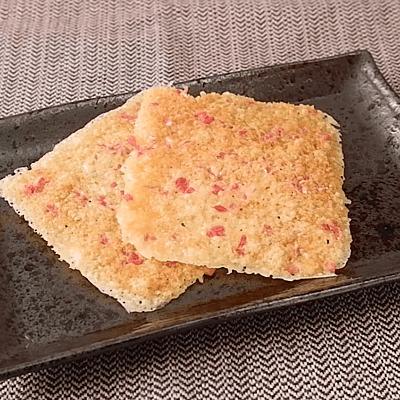 レンジで簡単紅生姜入りパリパリチーズ