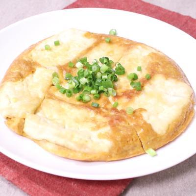 フライパンで簡単 豆腐の中華風オムレツ