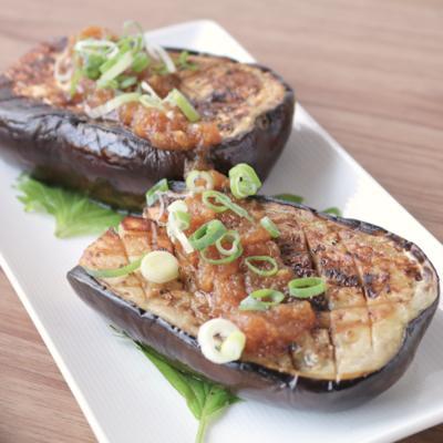 米ナスで野菜の和風ステーキ