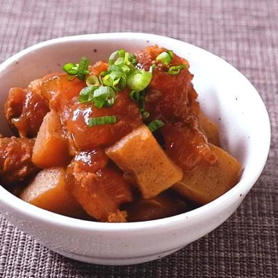 圧力鍋で作る牛すじ肉とこんにゃくの味噌煮込み