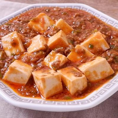 野菜ジュースでコク旨マーボー豆腐