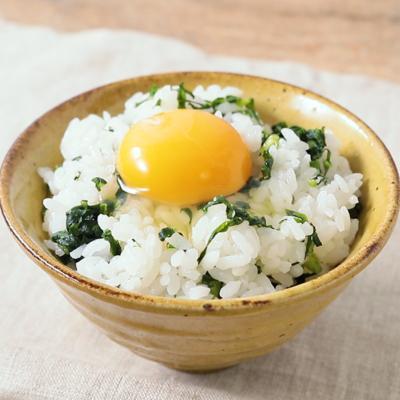菜飯で卵かけごはん