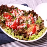さっぱりコク旨!トマトとシラスの香味サラダ
