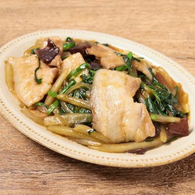 豚バラ肉とヤーコンの中華風炒め
