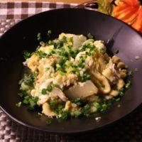 簡単!白菜と油揚げの卵とじ