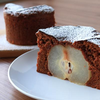 絶品 梨丸ごとチョコケーキ