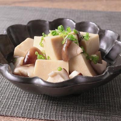 しいたけと高野豆腐のあんかけ煮