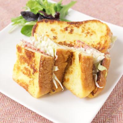 カフェ風 チーズコンビーフのフレンチトースト