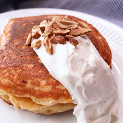 チーズケーキ風 お家で簡単クリームチーズパンケーキ
