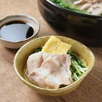 柚子が香る 水菜と豚肉のはりはり鍋