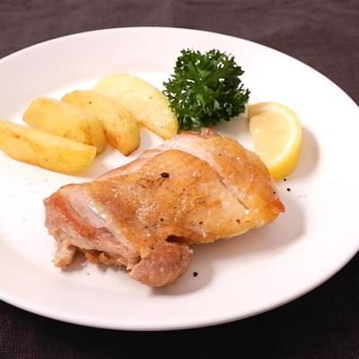 鶏もも肉とじゃがいものソテー トリュフ塩風味