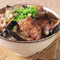 花椒香る 豚肉とナスの旨辛丼