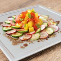 彩り野菜のバルサミコ酢サラダ