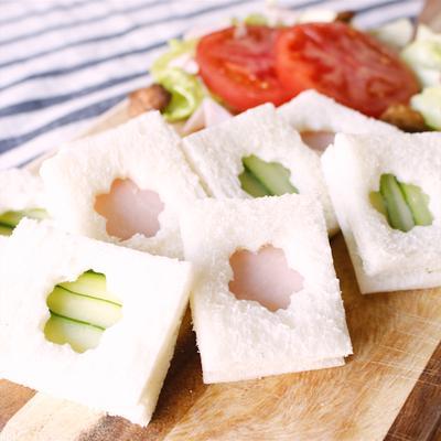 親子で作ろう!型抜きサンドイッチ