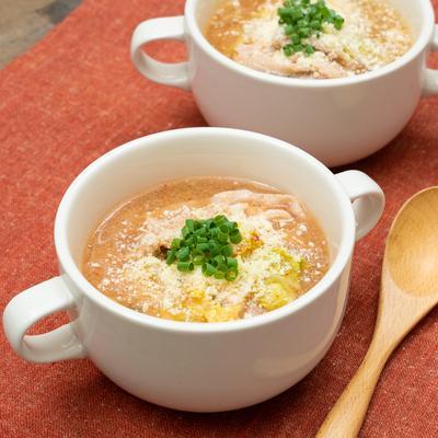 「パブロン かぜに愛情レシピ」レンジだけ!白菜のキムチチーズスープ