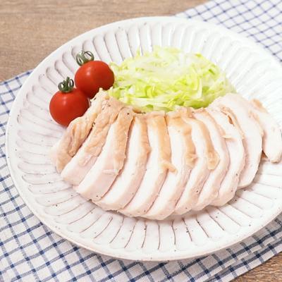 鶏むね肉しっとり お鍋に放置でてきる蒸し鶏
