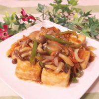 豆腐と野菜の甘酢あんかけ