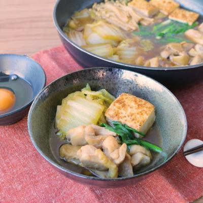白菜と鶏すき煮