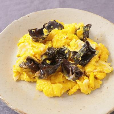 簡単おつまみ 卵ときくらげの炒め物