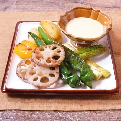 焼き野菜のクリーミーカレーソース
