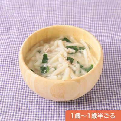 豚ひき肉と小松菜の担々風うどん