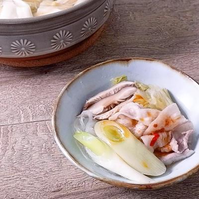 豚バラと白菜漬けのさっぱり発酵鍋