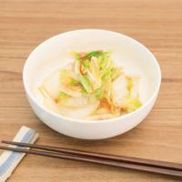 大量消費 白菜と桜エビの簡単中華風浅漬け