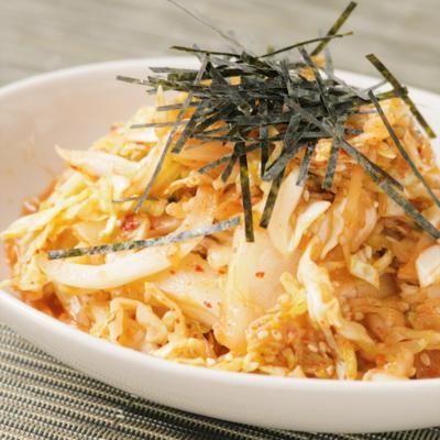 キムチとキャベツの簡単和えサラダ
