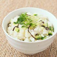 きゅうりと塩昆布のさっぱり混ぜご飯