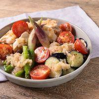 すだちとおろしで 鶏むね肉と彩り野菜の焼き浸し