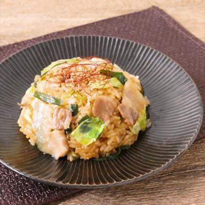 豚バラ肉とキャベツの韓国風ピリ辛チャーハン