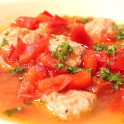 チキンボールのトマト煮