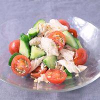 鶏ささみとトマトのエスニック風サラダ