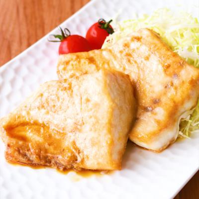 カジキマグロのニンニク醤油ソテー