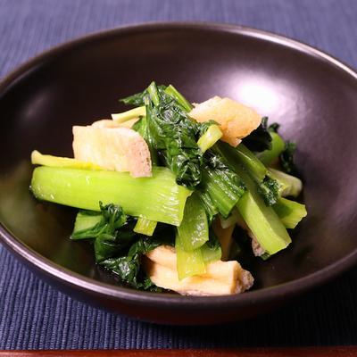 めんつゆで簡単!小松菜と油揚げの煮浸し