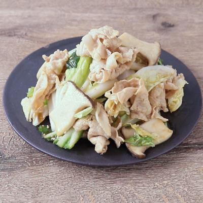 白菜としゃぶしゃぶ肉のおかずサラダ