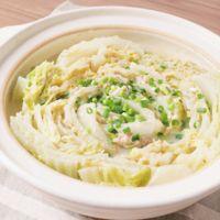 白菜と豚バラの豆乳ミルフィーユ鍋