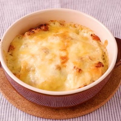 はんぺんと納豆のマヨチーズ焼き