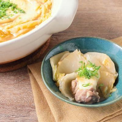 白菜と大根の味噌チーズ鍋