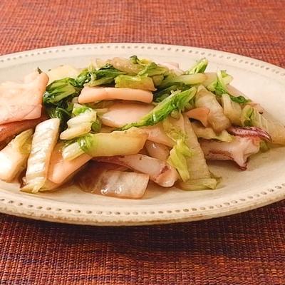 イカと白菜のピリ辛炒め