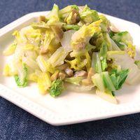 白菜のアンチョビオリーブ炒め